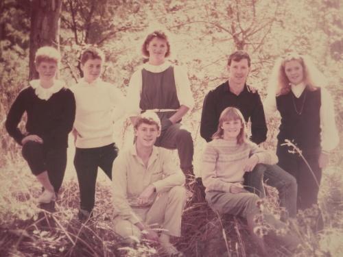 Portrait of Jillian's children in 1984