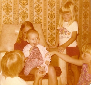 Me (baby) with Madeline, Heidi, Erina & Justin