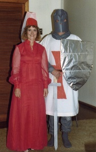 Mum and Dad as Crusaders