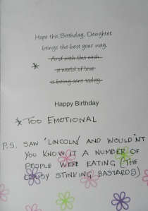 Page 2 of Dad's birthday card to me