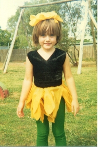 Me in an Easter costume ... many years ago (I think I'm some sort of chicken)